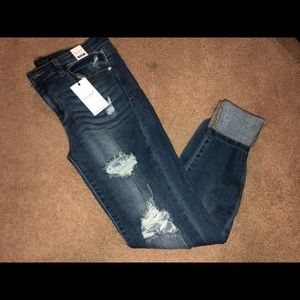 Just Blue distressed slim fit jeans NWT